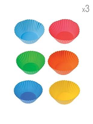 Pavoni Set 18 Moldes Para Muffin