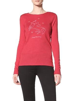 Acrobat Women's Sagittarius Long Sleeve Crew Sweater (Red/Flamingo)
