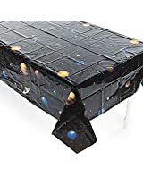 Planets Against A Black Sky Background For A Look Space Enthusiasts Table Cover