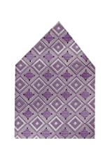 Navaksha Purple Micro Fibre Pocket Square