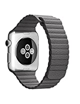 Apple Watch Band, HuanlongTM Loop Style Magnetic Strap Genuine Leather + Adapter Best Replacement for Iwatch All Edition (gray 42mm)