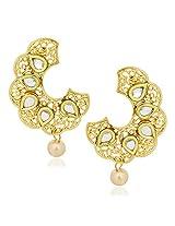 Kundan Pearl Earrings For Women Girls in Traditional Ethnic Gold Plated Earings By Meenaz J116
