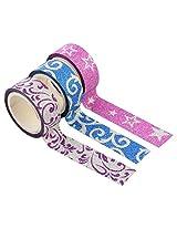 Colourful Decorative Adhesive Glitter Washi Tape Rolls, Length 3m Each, Set of 3