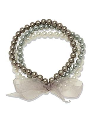 Perldor 60650126 - Pulsera de mujer con perla natural Multicolor 20 cm
