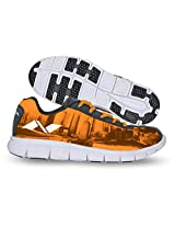 Nivia Men's City Marathon-1 Mesh PU Orange and Black Running Shoes - 4 UK