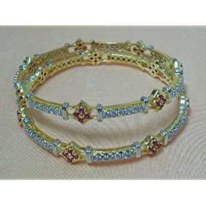 Shining with colour cz bangles