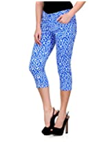 Fashion Cult Women's Slim Fit 3 4th Slim Capri (1844_Light Blue_30)