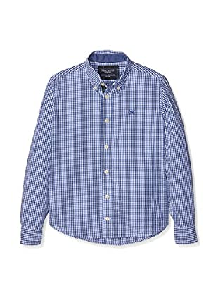 Hackett London Camisa Casual Square Check Dobby B