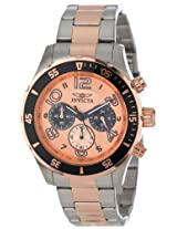 Invicta Pro-Diver Analog Pink Dial Men's Watch - 12913