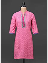Printed Mandarin Collar Cotton Kurta