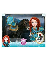 My First Disney Princess Toddler Merida and Angus Doll Horse Set with Brush