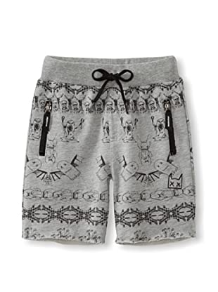 Munster Kid's Riddled Cotton Shorts (Grey Marle)