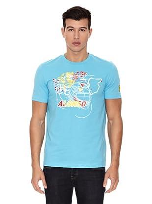 Ferrari Camiseta Santander Alonso (Azul)