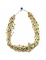 Beadworks Beaded Necklace Multi Strand Wooden Necklace