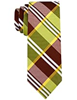 Scott Allan Men's Buffalo Plaid Necktie - Green/Brown