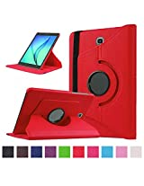 TGK Leather 360 Degree Rotating Case Cover Stand for Samsung Galaxy Tab S2 9.7 Inch SM T810 T815 - Red
