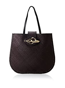Felix Rey Women's Tortola Tote with Shell (Black/Gold)