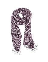FUGEN Women's Linen Scarf (FF-2042, Purple)