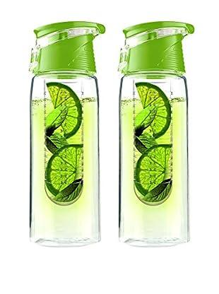 asobu Set of 2 Flavour It 2 Go, Green