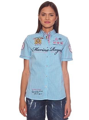 Geographical Norway Camisa Zeliana Check (Turquesa)