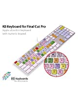 KB Covers Keyboard Cover for US/ANSI Keyboard - Final Cut Pro - Versions 5, 6, 7 (KBKYBD-FC-AK-W)