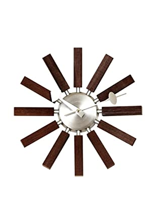 Mid Century Modern Wood Spokes Clock