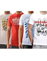 Funktees 100% Cotton Mens Round Neck L Size T-shirts.