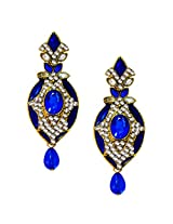 Beingwomen Oval Shape Stone Studded Fashion Alloy Drop Earring