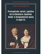 Pensamiento social y político en la literatura esp