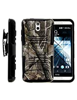 HTC Desire 610 Case, HTC Desire 610 Holster, Two Layer Hybrid Armor Hard Cover with Built in Kickstand for HTC Desire 610 (AT&T) from MINITURTLE | Includes Screen Protector - Nature's Camouflage