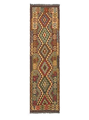 Hand-Woven Izmir Kilim, Burgundy/Ivory, 2' 8