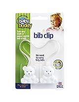 Baby Buddy Bib Clip, White