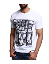 Men - T-Shirt - Boys - Round Neck - Casual Wear - White - - Khajaraho