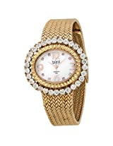 Burgi Mother Of Pearl Dial Rose-Tone Brass Ladies Watch - Bi075Rg