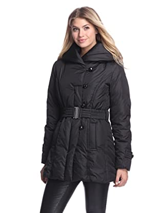 Ivanka Trump Women's Belted Puffer Coat (Black)