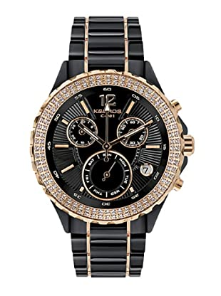 K&BROS 9151-1 / Reloj de Señora  con brazalete metálico negro