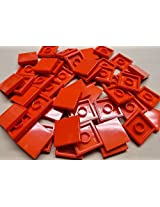 DEAL OF THE DAY!!! DO NOT MISS OUT!x50 NEW Lego Tiles Red Smooth Finishing Tile 2x2 2 x 2 MODULAR BUILDINGS