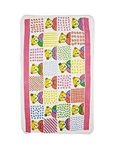 Wonderkids Pink Teddy Print Baby Bath Towel