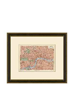 Antique Lithographic Map of London, 1894-1904
