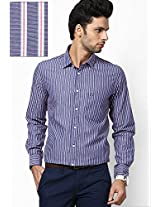 Blue Solids Casual Shirts