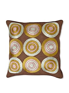 "Design Accents 9 Circles, Brown, 20"" x 20"""