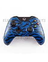 XBOX One Controller Premium Quality Hydro Dipped Blue Tiger Camouflage Front Shell With T8 Torx Tamper Proof Screwdriver