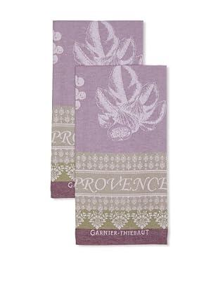 Garnier-Thiebaut Set of 2 Provence Lavande Kitchen Towels