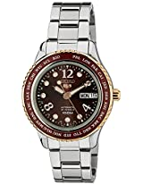 Seiko 5 Sports Analog Red Dial Women's Watch - SRP370K1