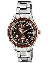 Seiko 5 Sports Analog Red Dial Women's Watch - SRP370K1