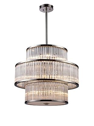 Artistic Lighting Braxton 15-Light Pendant, Polished Nickel