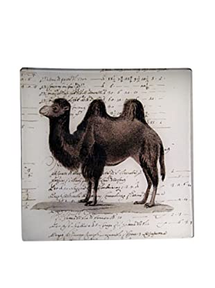 Twigs and Moss African Series Camel Glass Tray