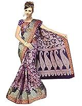 Saree Sansarr Saree (6032_Purple)