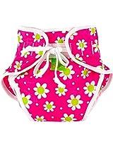 Reusable Swim Diaper | Pink Daisies Size , Large