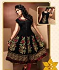 Gorgeous Black and Red Party Wear Kurti
